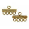 Gold-plated Coupling Bar 4 Strand Base SS.925